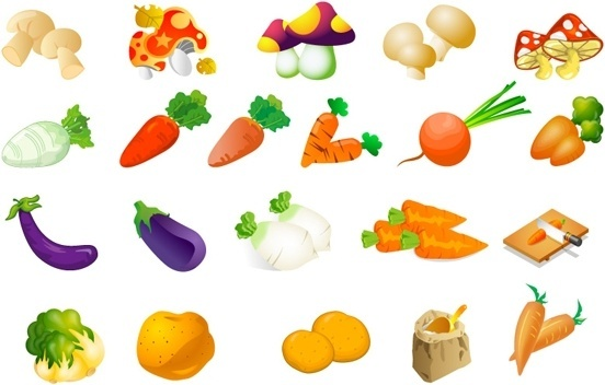 vegetable clip art of three
