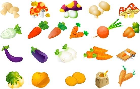 vegetable clip art of three - Vegetable Clipart