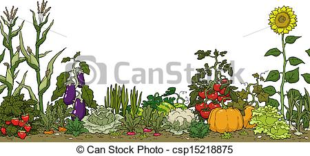 ... Vegetable garden bed on a - Free Garden Clipart