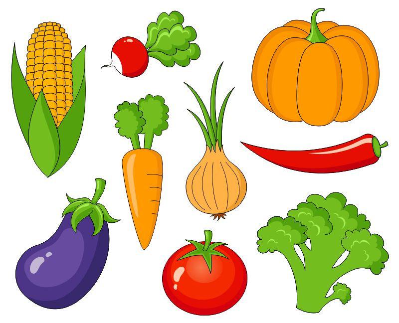Vegetables Clip Art Cute Veggies Clipart-Vegetables Clip Art Cute Veggies Clipart By Yarkodesign On Etsy-4