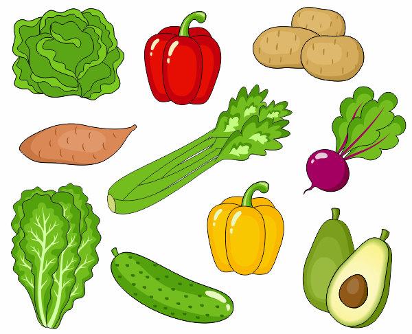 Vegetables Clip Art, Cute Veggies Clipar-Vegetables Clip Art, Cute Veggies Clipart, Digital Clip Art, Avocado, Potato, Pepper, Beet, Cucumber - Instant Download - YDC019-4