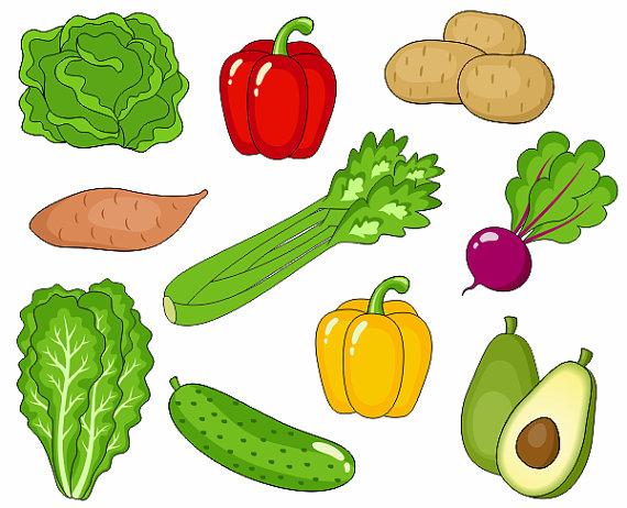 Vegetables Clip Art, Cute Veggies Clipar-Vegetables Clip Art, Cute Veggies Clipart, Digital Clip Art, Avocado, Potato, Pepper, Beet, Cucumber - Instant Download - YDC019-8