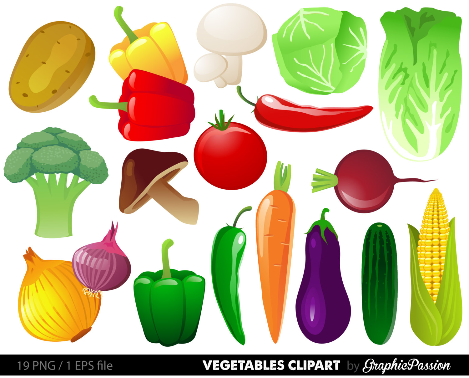 Vegetables clipart digital vegetables clip art vegetable digital illustration Food Clipart Food digital images Vegetables Digital Images