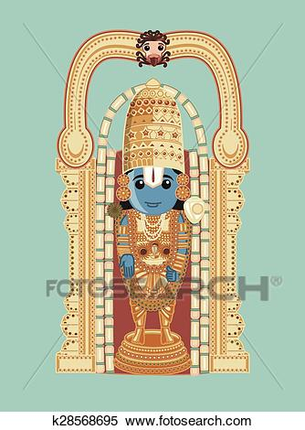 Clipart - Baala Ji Venkateswara - Cartoon God. Fotosearch - Search Clip Art,  Illustration