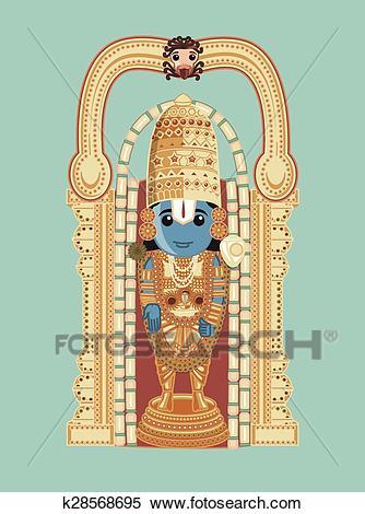 Clipart - Baala Ji Venkateswara - Cartoon God. Fotosearch - Search Clip Art,  Illustration