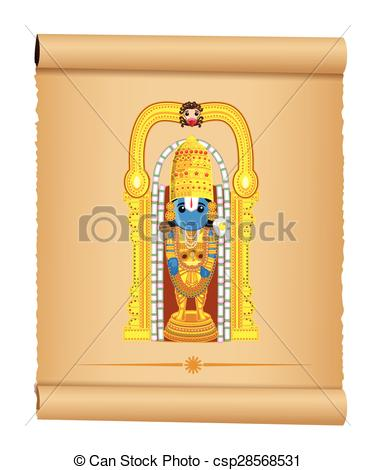 Lord Venkateswara - Indian God - csp28568531
