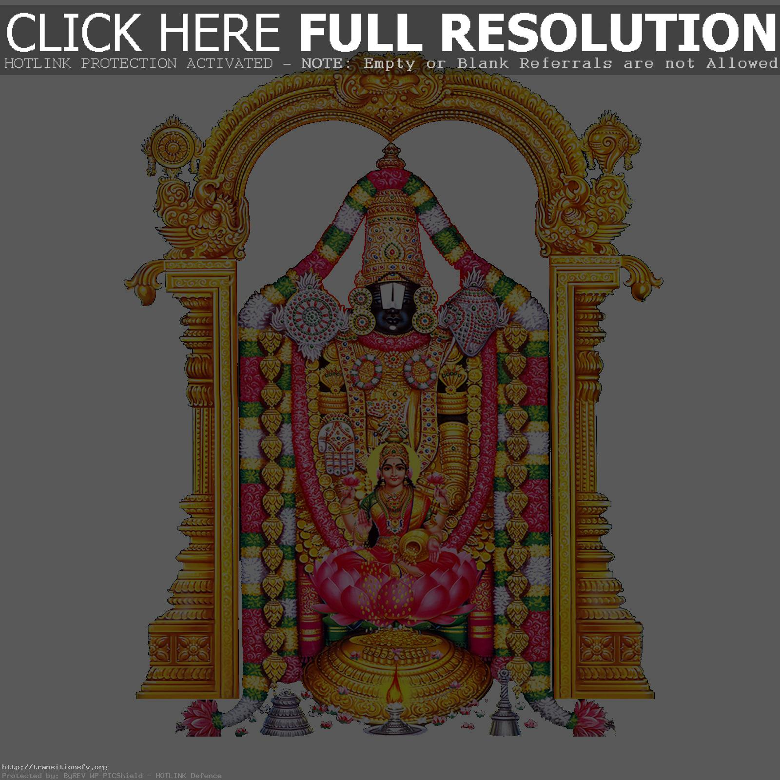 Lord Venkateswara With Consor - Venkateswara Clipart