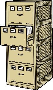 Vertical File Cabinet Clip Art