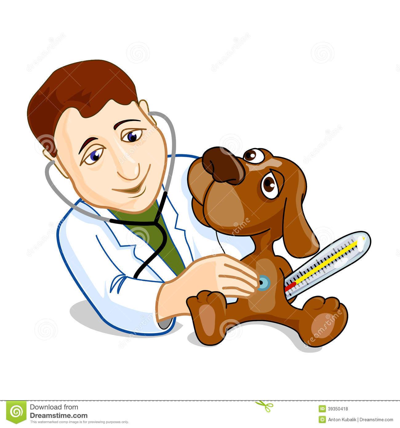 Vet Clip Art Illustration Of Veterinarian