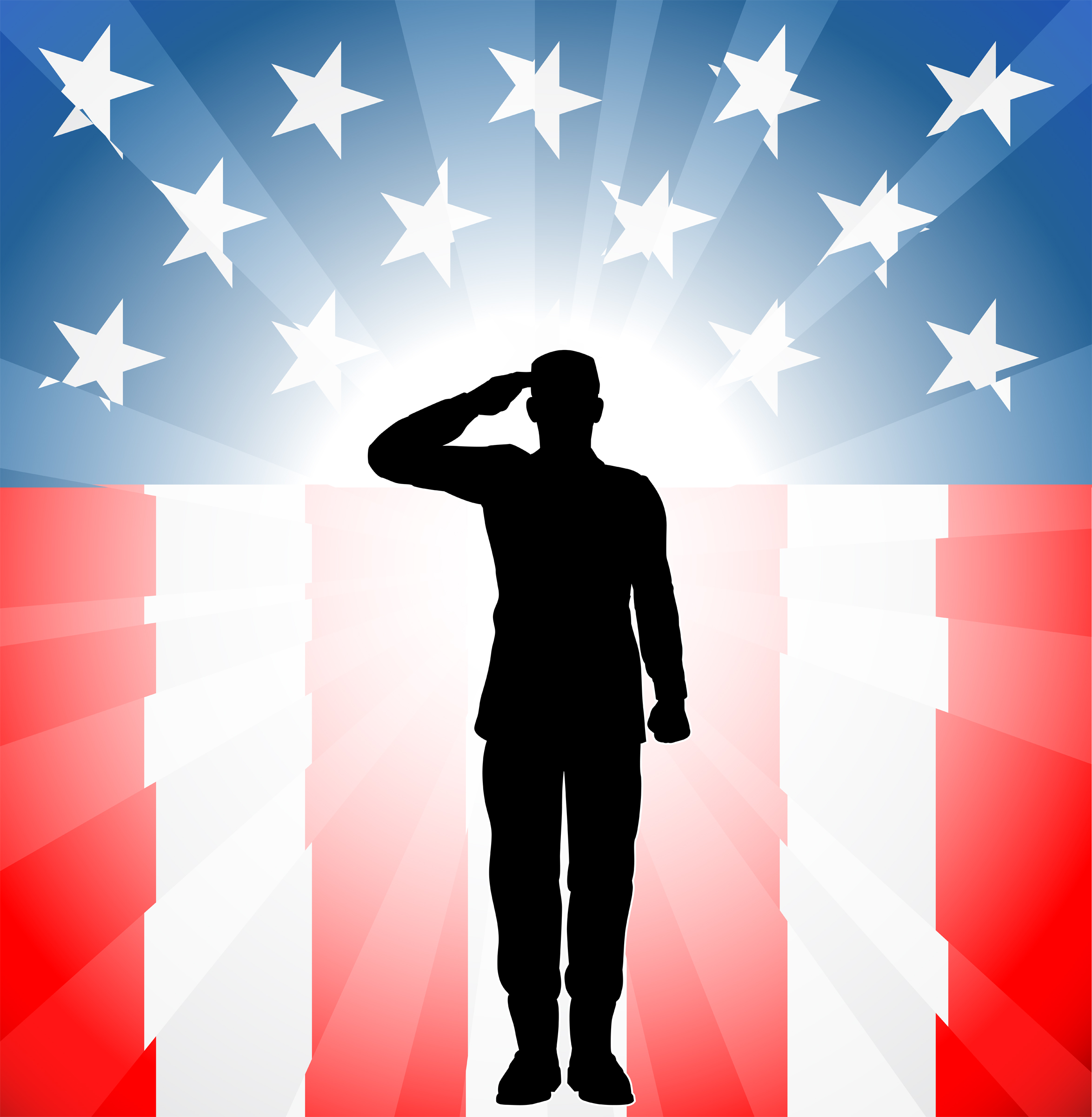 Veterans Day Clip Art | soldier in front of flag clipart | Places to Visit | Pinterest | Activities, Home and Soldiers