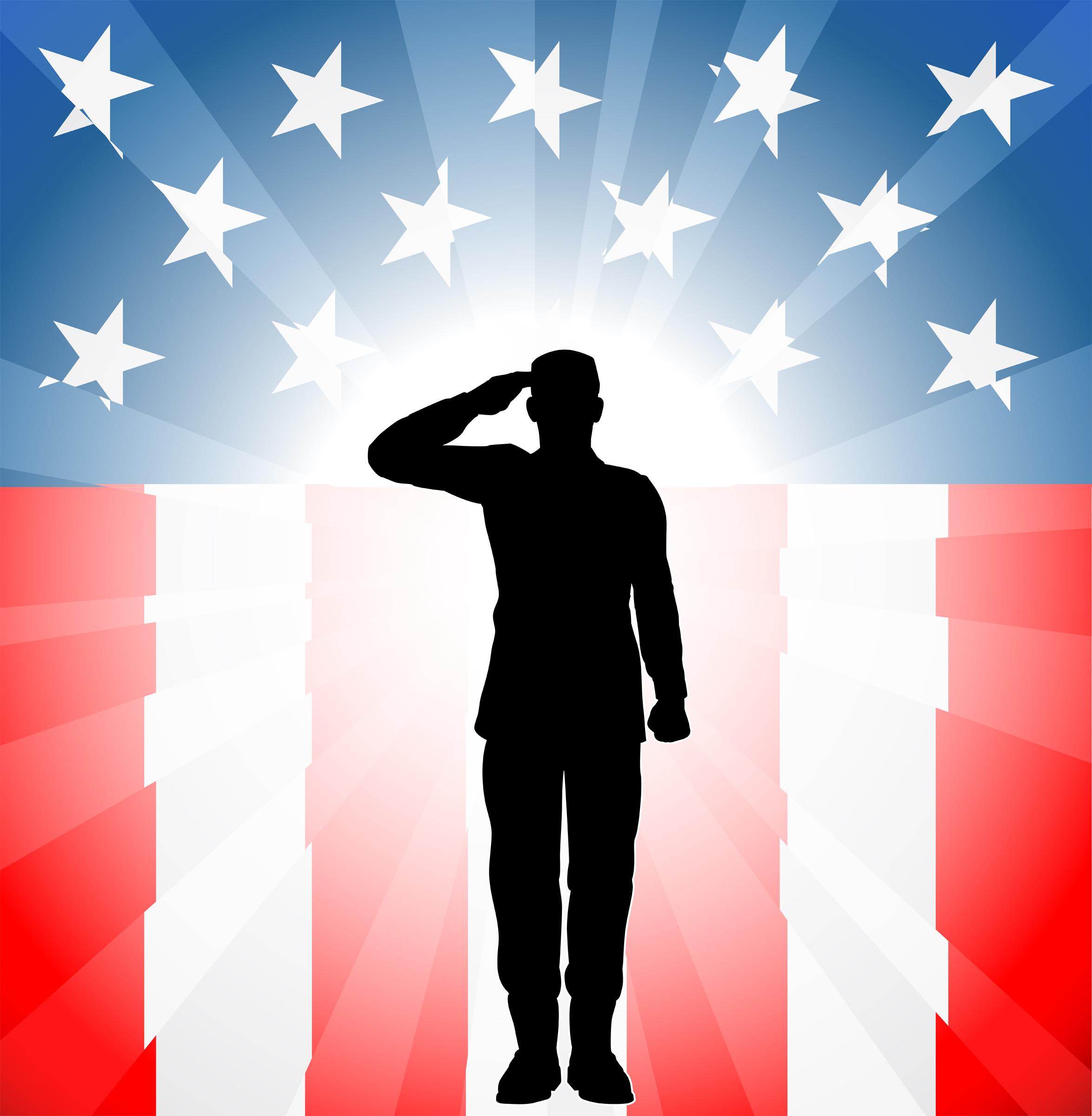 Veterans Day Clip Art | Soldier In Front-Veterans Day Clip Art | soldier in front of flag clipart | Places .-17