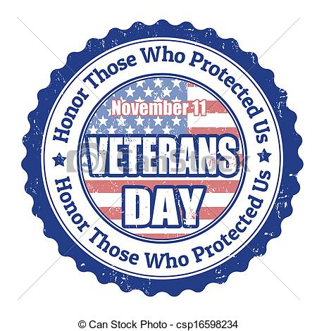 ... Veterans Day stamp - Grunge rubber stamp with the text.