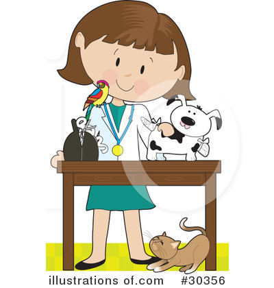 Veterinarian Clipart 30356 By Maria Bell Royalty Free Rf Stock