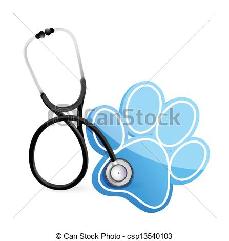 Veterinarian Concept With A Stethoscope -veterinarian concept with a Stethoscope illustration design... ...-17