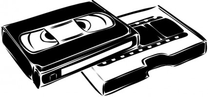 Vhs video tape clip art Free .