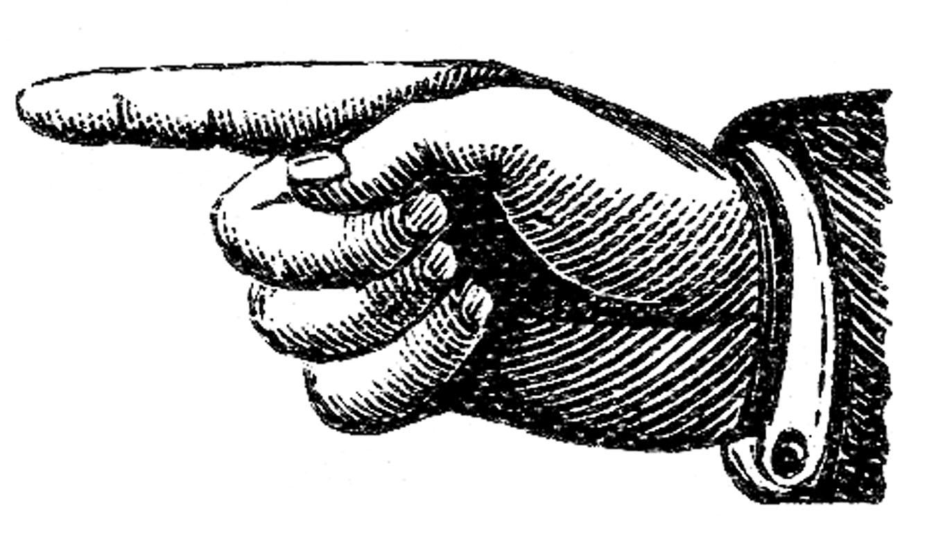 Victorian Clip Art U2013 Pointing Hands -Victorian Clip Art u2013 Pointing Hands u2013 Steampunk-14