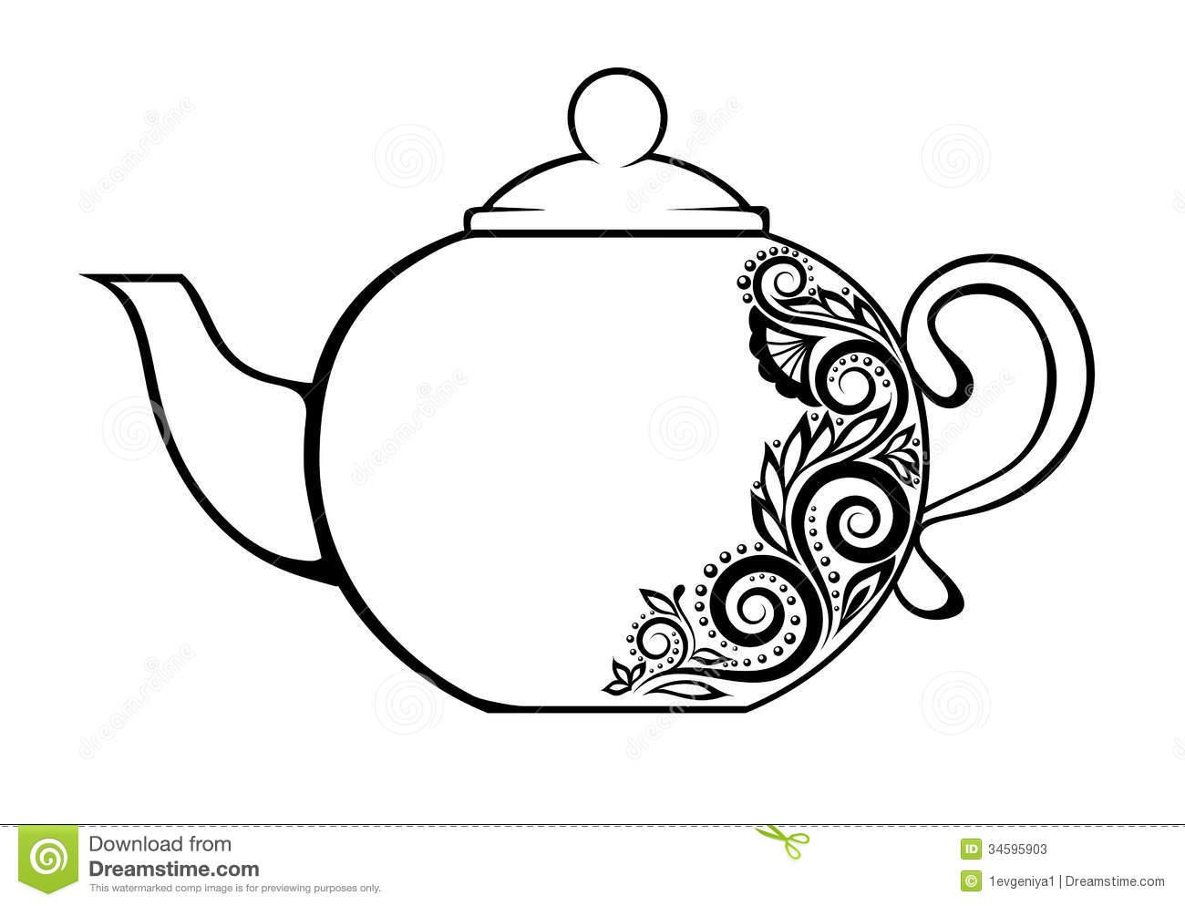 Victorian Teapot Clipart