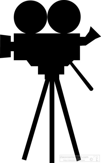 video-camera-silhouette- . - Video Camera Clip Art