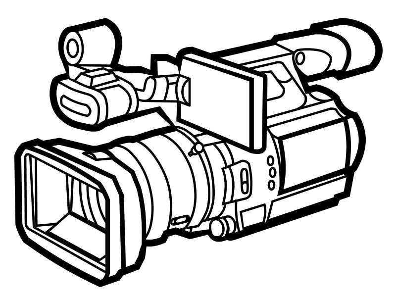 800x600 video camera clipart
