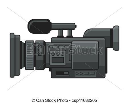 Professional Digital Video Camera Recorder Icon. Vector