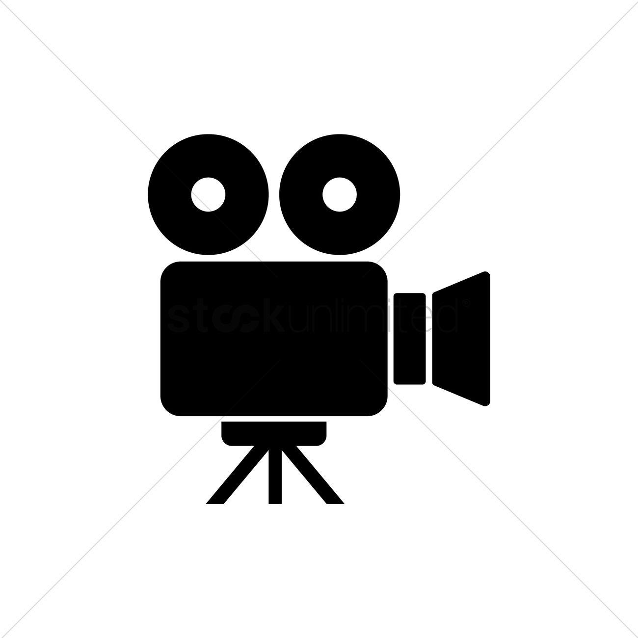 video camera icon vector graphic