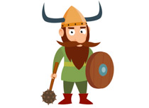 Viking Warrior With Hammer And Shield Vi-Viking Warrior With Hammer And Shield Vikings Clipart Size: 58 Kb-10