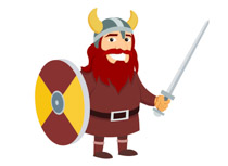 Viking Warrior With Shield And Sword Cli-Viking Warrior With Shield And Sword Clipart Size: 60 Kb-11