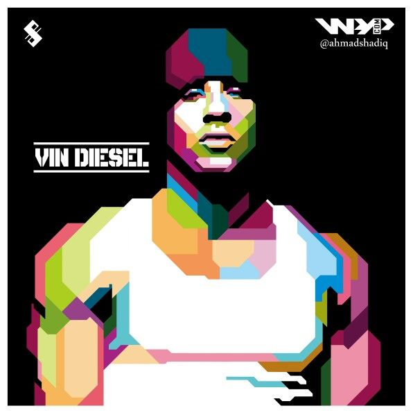 Nge WPAP in Dominic Toretto alias Vin Diesel #WPAP #StyleEmpatLima :D