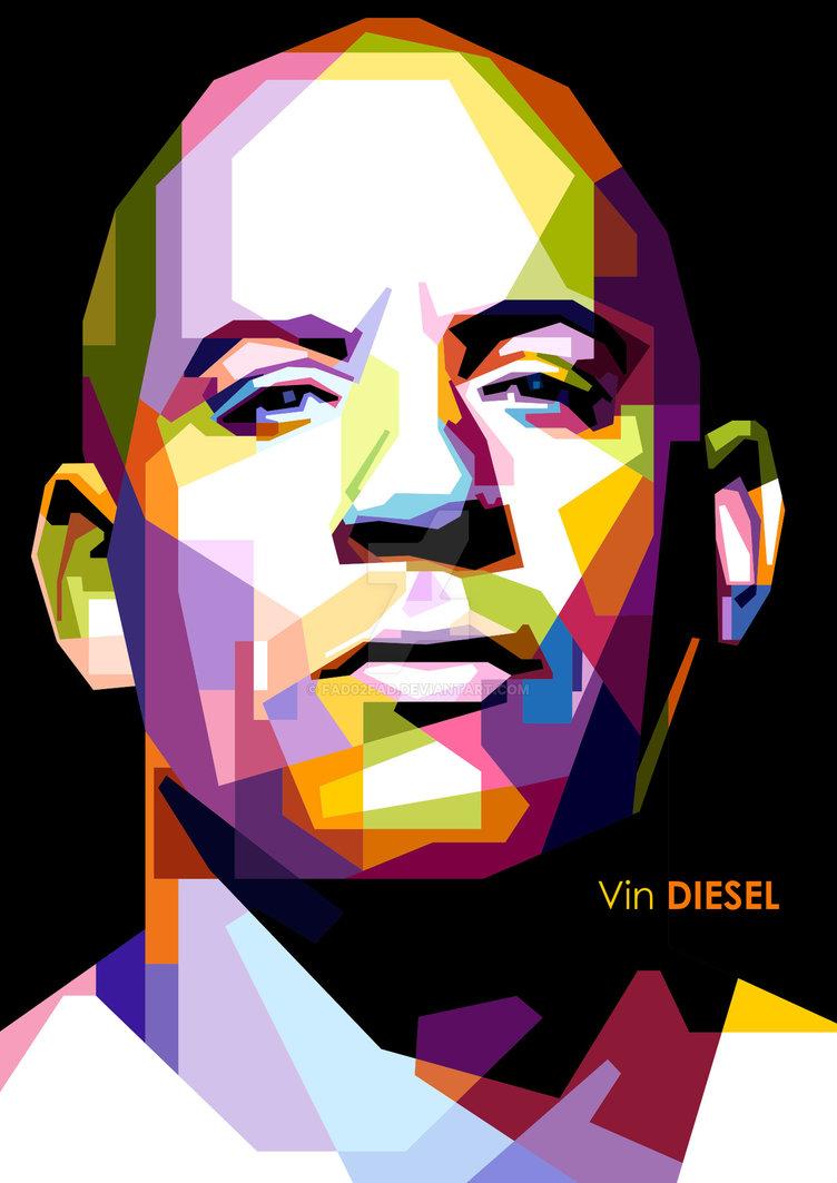 Vin Diesel in WPAP (Open Order) by Fad02fad ClipartLook.com