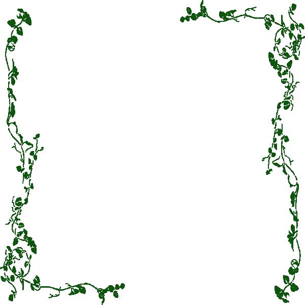 Vine Border Green Clip Art At Clker Com Vector Clip Art Online