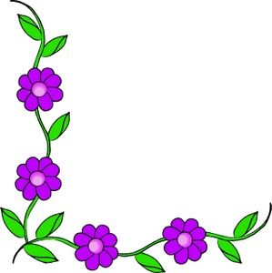 Vine Clipart Image - Purple Flowers On A-Vine Clipart Image - Purple flowers on a vine making up a page border | cards digi | Pinterest | Vines, Clip art and Flower vines-15