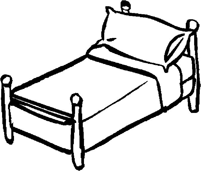 98+ Bed Clipart Black And White