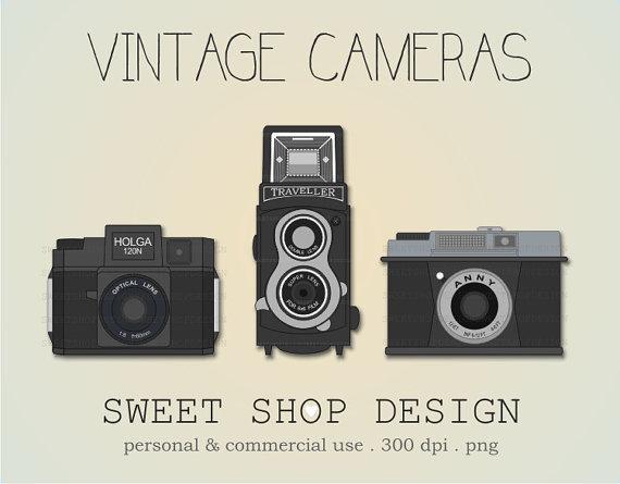 Vintage Camera Clip Art, Camera Ilustrat-Vintage Camera Clip Art, Camera Ilustration, Photography Clip Art, Royalty  Free Clip Art-16