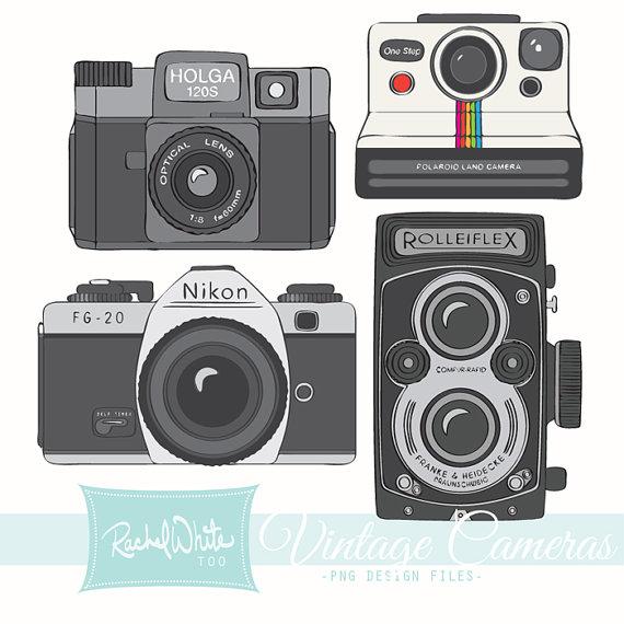 Vintage Cameras Clip Art 20 Images Ai Ep-Vintage Cameras Clip Art 20 Images Ai Eps Png Rolleiflex Holga-12