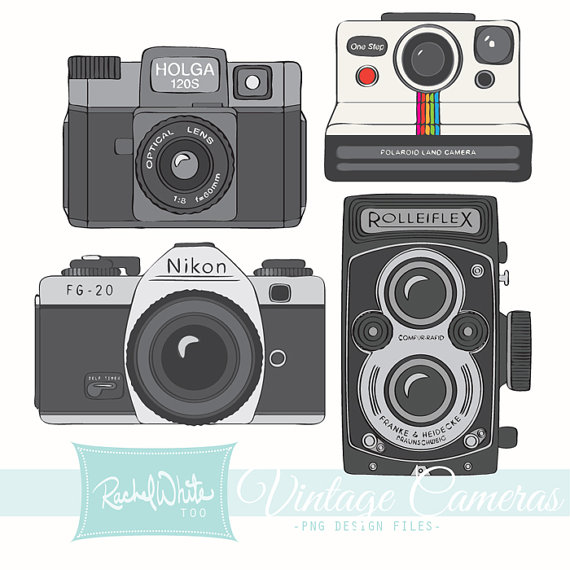 Vintage Cameras Clip Art 20 Images Ai Eps Png Rolleiflex Holga