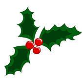 Vintage Christmas Card U0026middot; Holl-Vintage Christmas card u0026middot; Holly berry-16