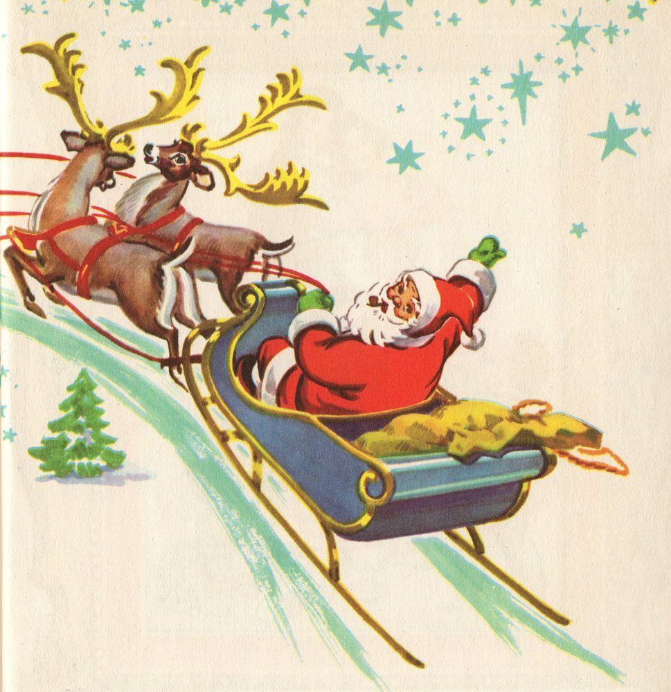 Vintage christmas cards, .