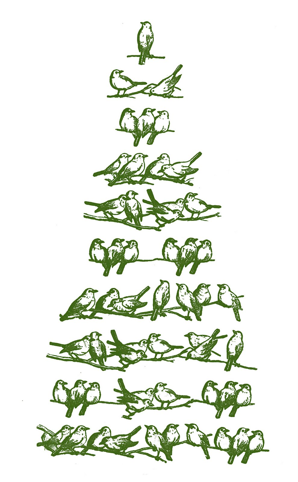 Vintage Christmas Clip Art u2013 Bird Tree
