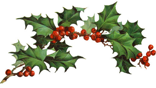Vintage Christmas Holly Clipart Holly