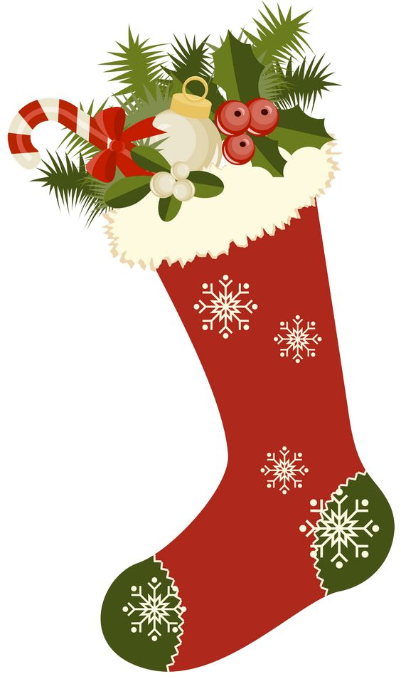 Vintage Christmas Stockings Clipart