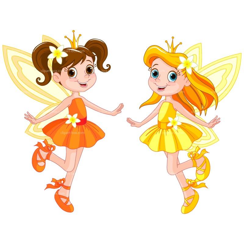 Vintage clip art 3 flower fairies the graphics fairy image