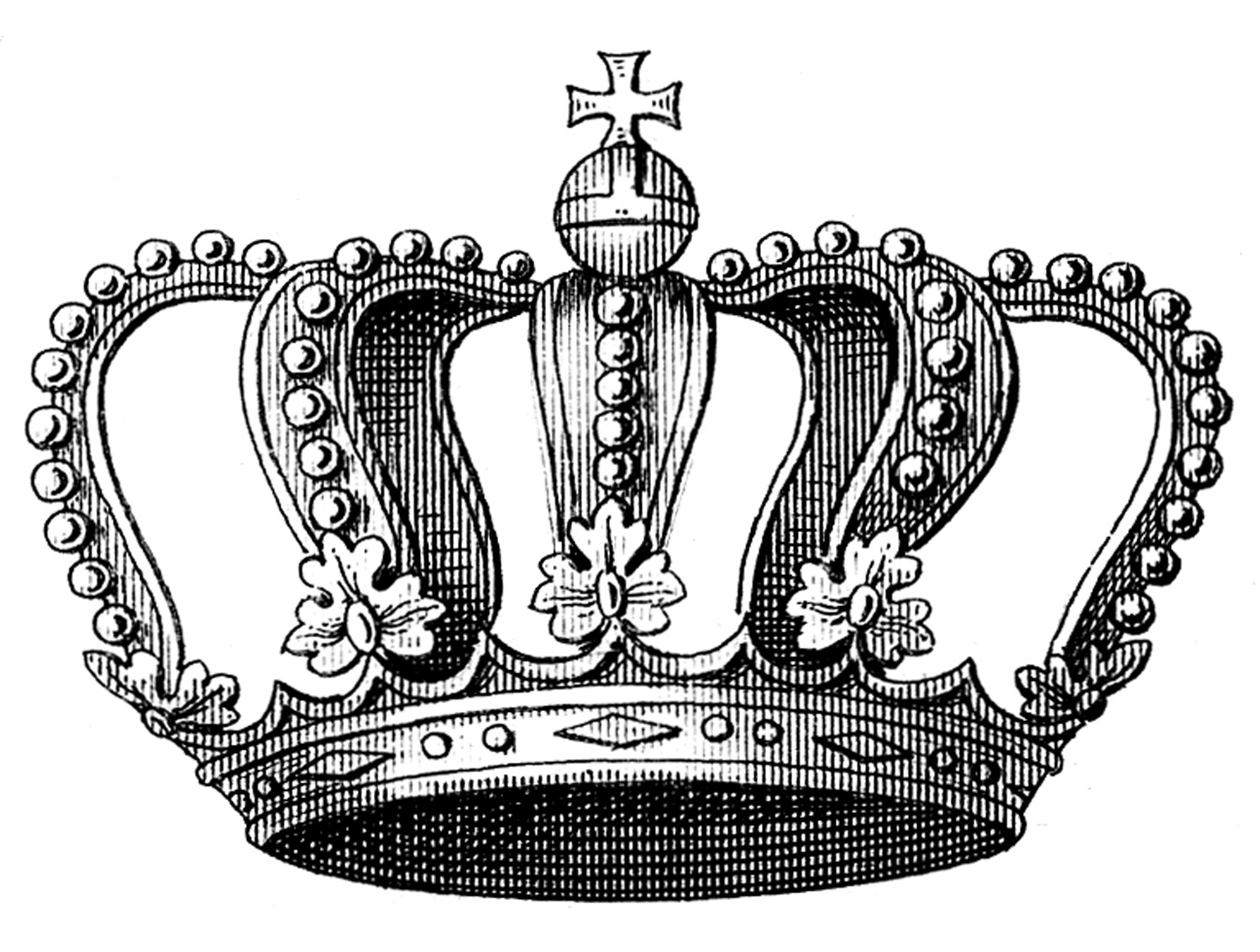 purple crown clipart