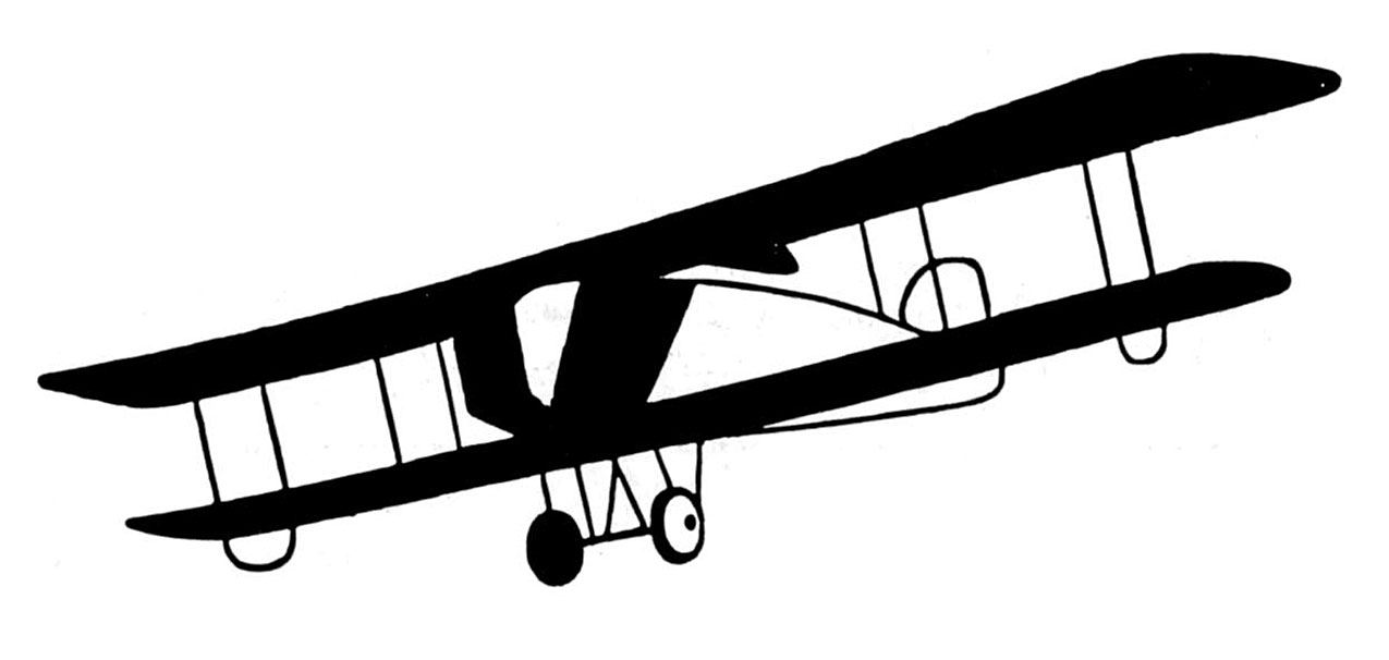 Vintage Clip Art u2013 Black  - Vintage Airplane Clipart