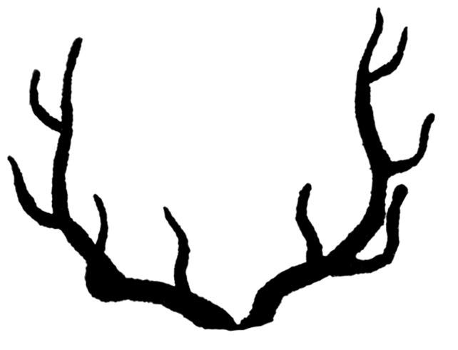 Vintage Clip Art u2013 Deer with Antlers Silhouette