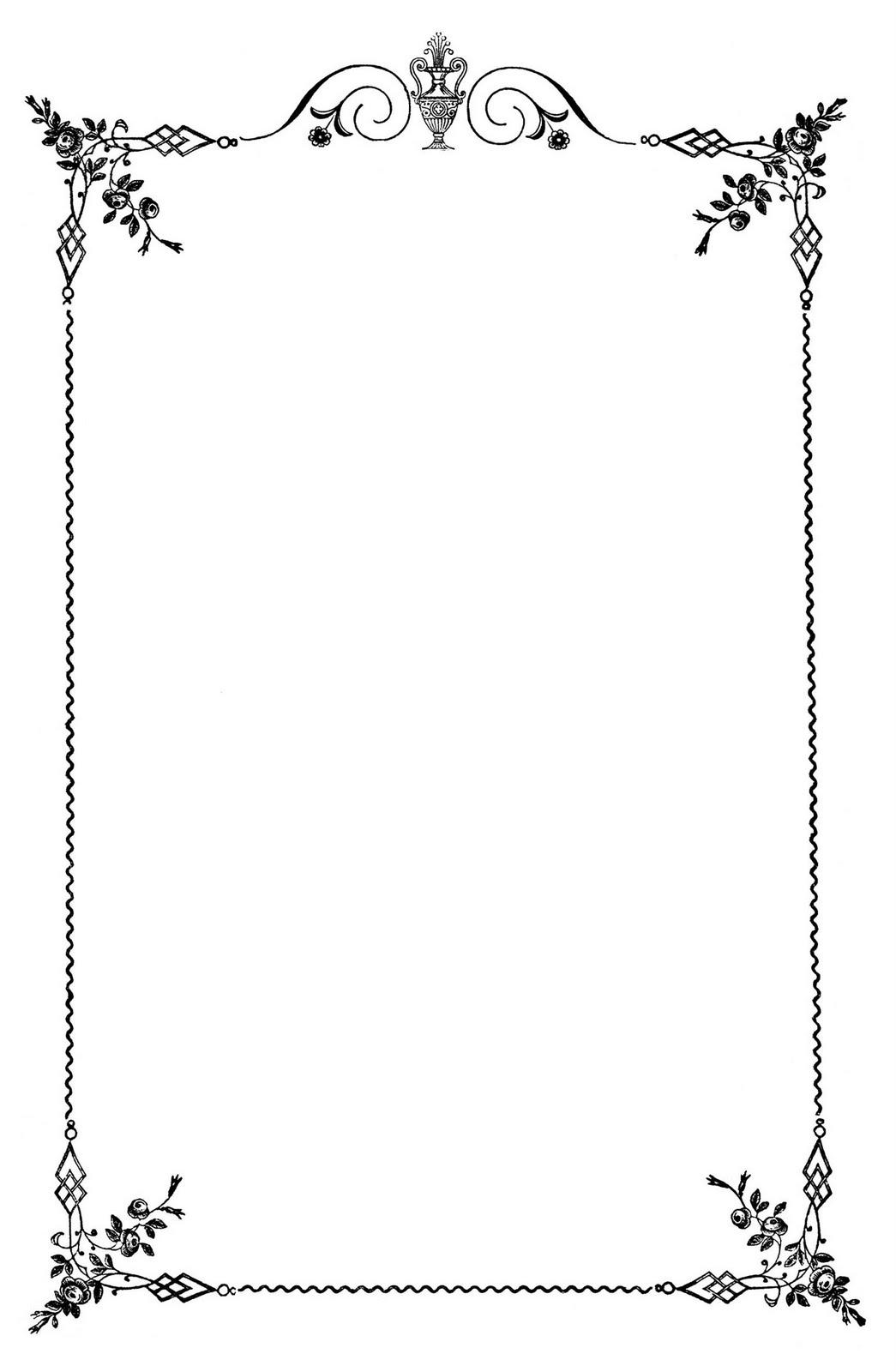 Vintage Clip Art Elegant Frame Wedding M-Vintage Clip Art Elegant Frame Wedding Menus The Graphics Fairy-19