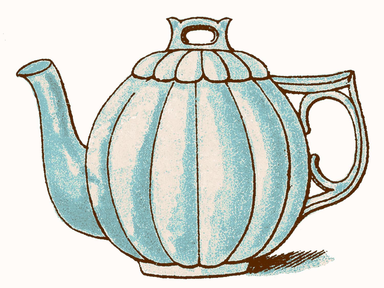 Vintage Clip Art Images Adorable Pastel -Vintage Clip Art Images Adorable Pastel Teapots The Graphics Fairy-19