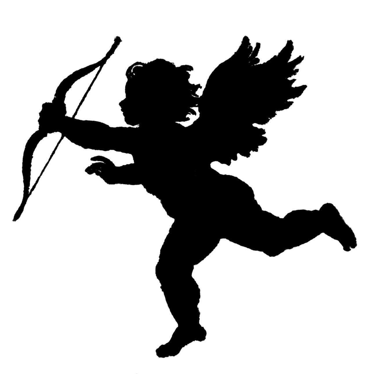 Vintage Clip Art u2013 Poems of Love Silhouette u2013 Cupid