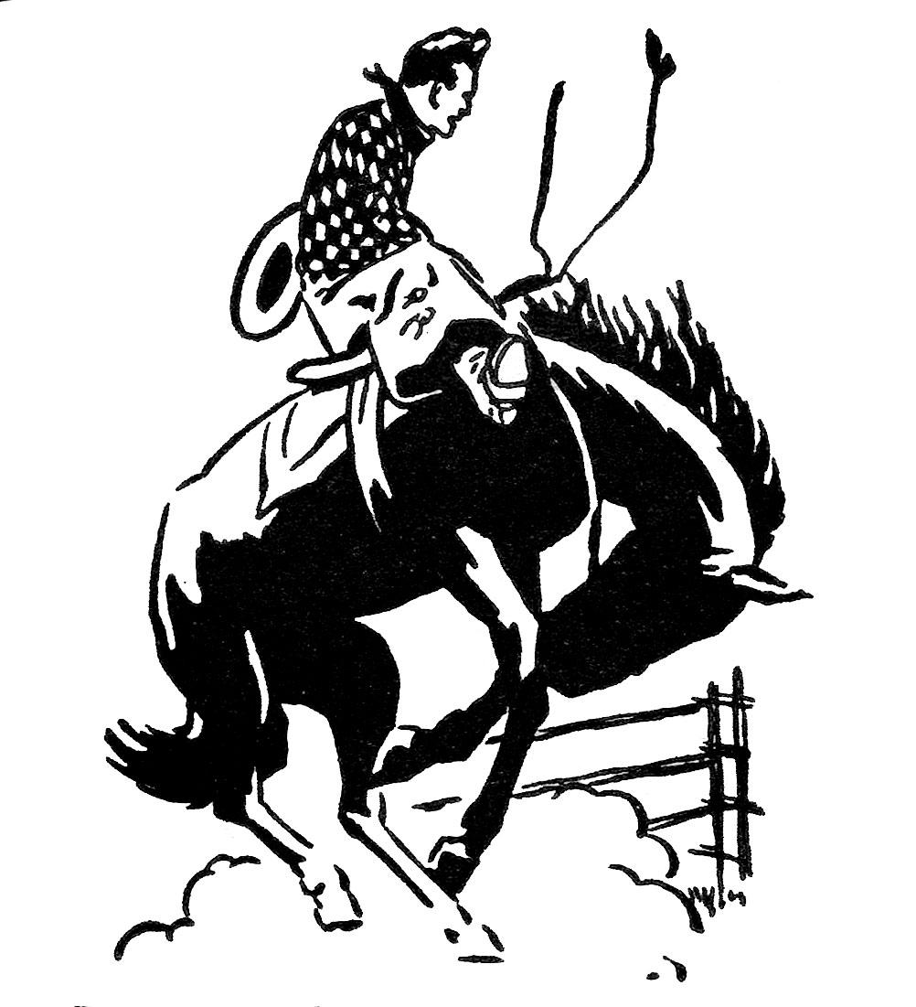 Vintage Clip Art Rodeo Cowboy The Graphi-Vintage Clip Art Rodeo Cowboy The Graphics Fairy-19