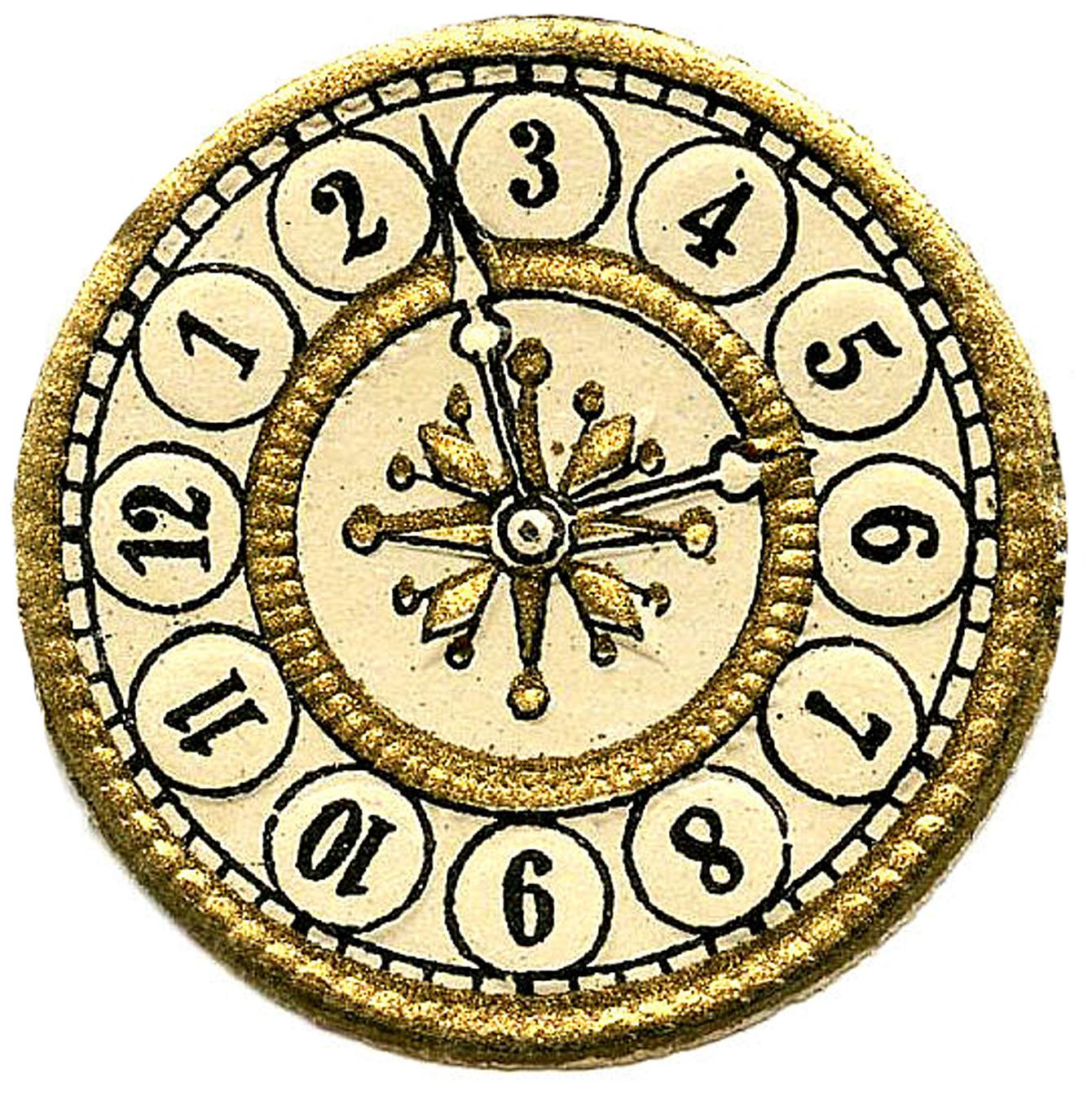 Vintage Clip Art - Scrap Clock Faces - S-Vintage Clip Art - Scrap Clock Faces - Steampunk - The Graphics Fairy-17