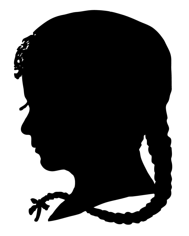 Vintage Clip Art u2013 Silhouette Boy u0026amp; Girl